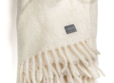 Plaids - 4100 Luxury Kid Mohair Blanket Pure White - STACKELBERGS