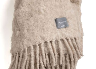 Throw blankets - 4107 Luxury Kid Mohair Blanket Light Taupe - STACKELBERGS