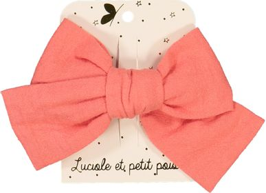 Hair accessories - Large linen bow - LUCIOLE ET PETIT POIS