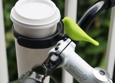 Children's decorative items - Bird Bike Cup & Bird Bike Bell : Cup Holder Everyday Houseware Eco living collection 100% recyclable. - QUALY DESIGN OFFICIAL