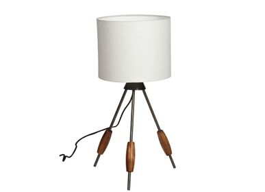 Table lamps - Table lamp Spindle with plain white shade - CHEHOMA