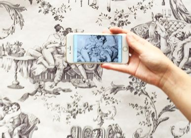 Wallpaper - EROTIC TOILE DE JOUY Animated Wallpaper with the Augmented Reality Application - PASCALE RISBOURG