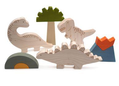 Jeux enfants - Jeu Dino en bois - BRIKI VROOM VROOM
