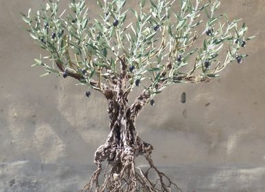 Objets de décoration - Olivier hors sol racines 49 rameaux - L'OLIVIER FORGÉ