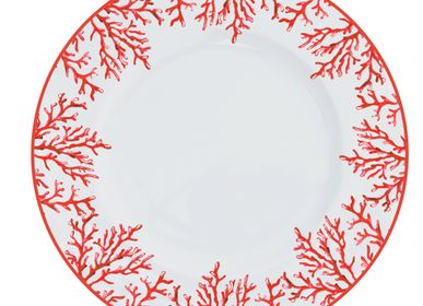 Assiettes de réception  - Porcelain dinnerplate Coral Red - CATCHII