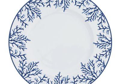 Assiettes au quotidien - Porcelain dinnerplate Coral Blue - CATCHII