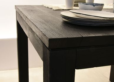 Dining Tables - DINING TABLE — BURNT WOOD SHOU-SUGI-BAN - OUVRAGE  - BOIS BRULE