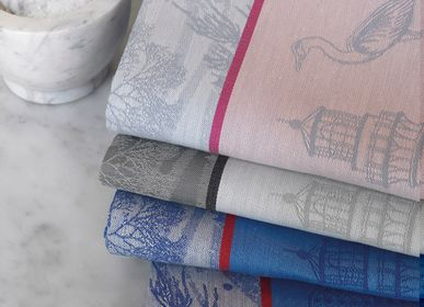 Kitchen linens - Tea Towel and Hand Towel Salt Marais - LE JACQUARD FRANCAIS