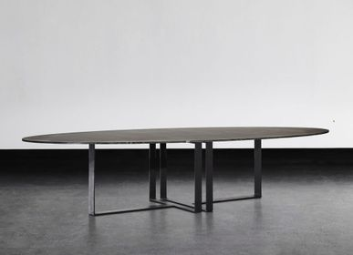 Dining Tables - LUNA OVAL DINING TABLE - XVL HOME COLLECTION