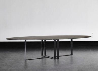 Tables Salle à Manger - TABLE À MANGER OVALE LUNA - XVL HOME COLLECTION