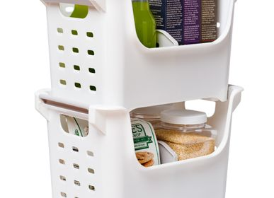 Organizer - Divided Stacking Basket - PEARL LIFE