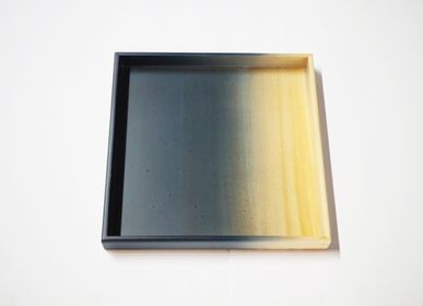 Trays - Indigo Hinoki Wood  Plate (Small) - AOLA