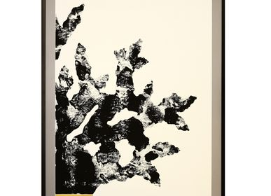Paintings - monotype engraving and embossing 80cm x 120 cm corals - FOUCHER-POIGNANT