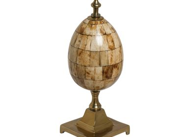 Decorative objects - Decorative bone egg on stand - CHEHOMA