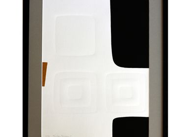 Paintings - Engraving and embossing 45 cm x 60 cm black,   - FOUCHER-POIGNANT