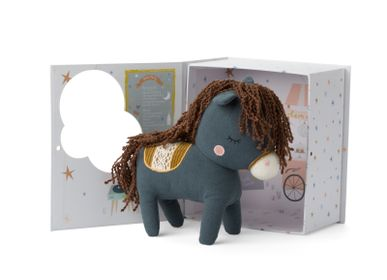 Gifts - Picca Loulou Horse Henry in gift box - blue - PICCA LOULOU