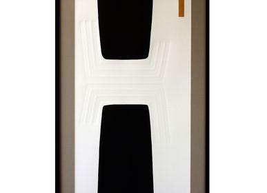 Cadres - Gravures et gaufrage 65 cm x 115 cm noir, - FOUCHER-POIGNANT