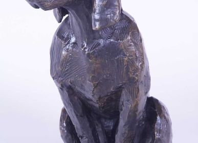 Sculptures, statuettes and miniatures - Sculpture The Sitting Dog - MICHEL AUDIARD