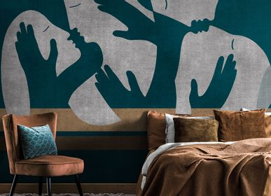 Hotel bedrooms - KW 0308 | Handmade Wallpaper  - AFFRESCHI & AFFRESCHI