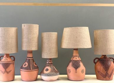 Table lamps - Pottery Table Lamps - Berber - Tribal - Amfora - ZENZA