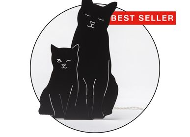 Other wall decoration - THE KITTIES LAMP - BLACK - GOODNIGHT LIGHT