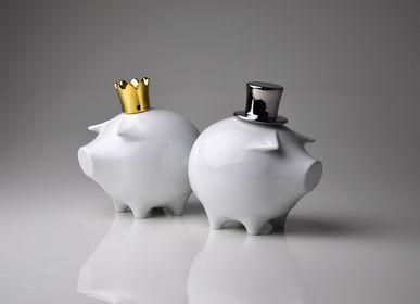 Cadeaux - coinbank en porcelaine ROBIN PIGGYHOOD - HOLARIA & KERAMPORZELLAN