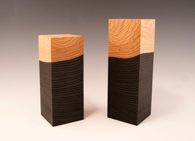 Objets de décoration - Totem black and natural - VIVIEN GRANDOUILLER