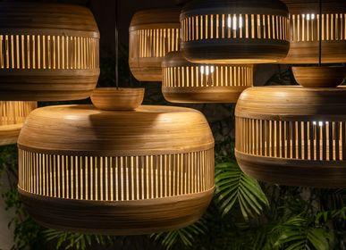 Objets de décoration - DESRTOBO lampe suspendue en bambou fait main, suspension, cluster - BAMBUSA BALI