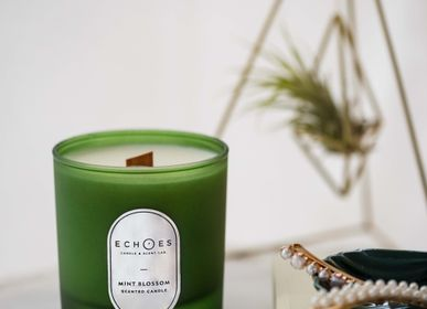 Gifts - Mint Blossom Scented Natural Candle - ECHOES CANDLE & SCENT LAB.