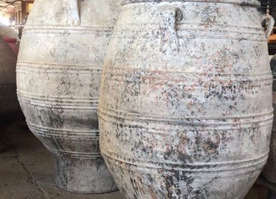 Vases - ceramics, olive oil pots, Greek pots, bribes, custom clay urns, special orders - SILO ART FACTORY
