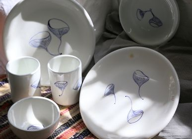 Everyday plates - PAINTED CERAMIC TABLEWARE - COOL COLLECTION