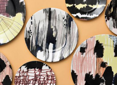 Formal plates - Abstract _ Collection Plates - FRANCESCA COLOMBO