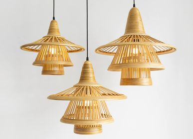 Design objects - KARIMATA bamboo handmade pendant lamp/hanging light - BAMBUSA BALI