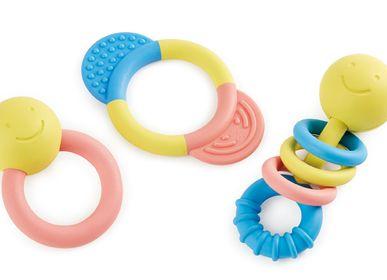 Jouets enfants - Collection d'anneaux de dentition et hochets en riz japonais - HAPE