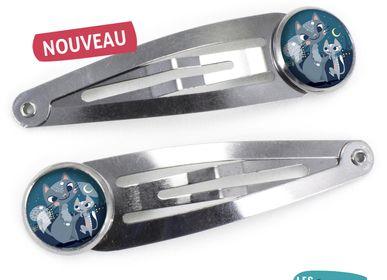 Hair accessories - Hair Clips Les Minis Famille Chats - LES MINIS D'EMILIE FIALA