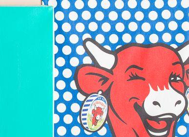 Torchons textile - La Vache qui Rit - Pop Bleu / Torchon imprimé - COUCKE