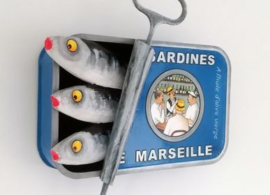 "Other wall decoration - Sculptures ""Canned Sardines"" 44 x 25 cm - PHILIPPE BALAYN"