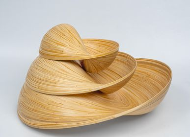 Trays - VERSA decorative artisan-crafted bamboo bowls  - BAMBUSA BALI