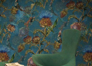 Wallpaper - Artichokes Blue - PASCALE RISBOURG