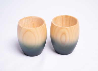 Glass - Indigo Hinoki Small Cup Set - AOLA
