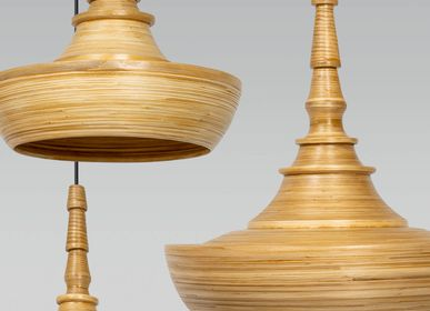 Decorative objects - BURMA handcrafted bamboo pendant lamp, hanging light - BAMBUSA BALI
