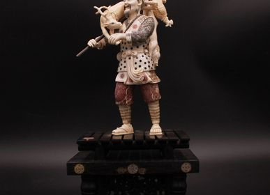 Sculptures, statuettes and miniatures - Abundant hunting, mammoth ivory sculpture - TRESORIENT
