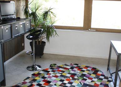 Bespoke carpets - Peau de vache patchwork multicolore  - TERGUS
