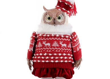 Other Christmas decorations - LAPLAND OWL DOLL RD/WH 35CM - GOODWILL M&G
