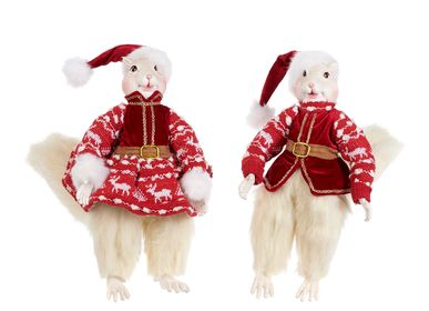 Christmas table settings - LAPLAND SQUIRREL BOY/GIRL DOLL Christmas Decoration  - GOODWILL M&G