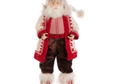 Decorative objects - LAPL.WINTER SANTA DOLL TT WH/RD 64CM - GOODWILL M&G