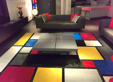 Contemporary carpets - Custom Mondrian Cow Rug - TERGUS