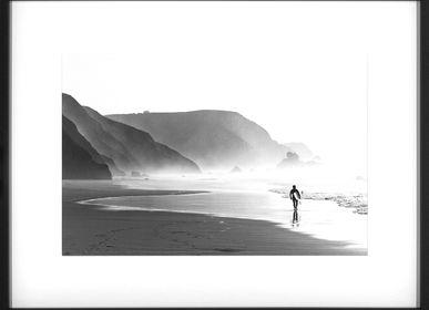 Art photos - Wall decoration. Surfing at Sunrise. - ABLO BLOMMAERT