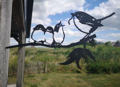 Objets de décoration - Metalbird Roitelet Et Bébés, - METALBIRD