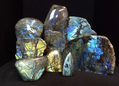 Objets de décoration - Bloc de Labradorite, curiosité d'intérieure - METAMORPHOSES